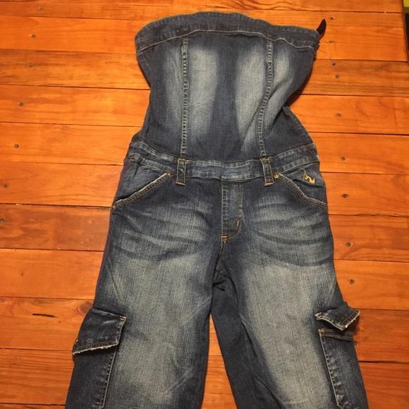 ffe0b0e867 Baby Phat Pants - BABY PHAT Strapless Jean Romper Size 11